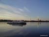 Cruise ship at the Neva river