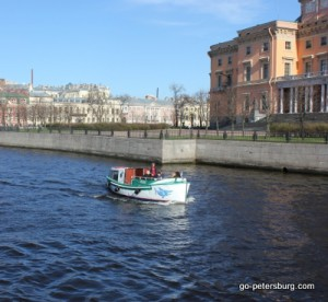 St. Petersburg Excursion boat on Fontanka river